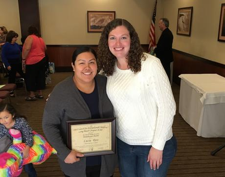 Newcomb aide Lucia Rios wins Paraeducator Award from The Council for  Exceptional Children!